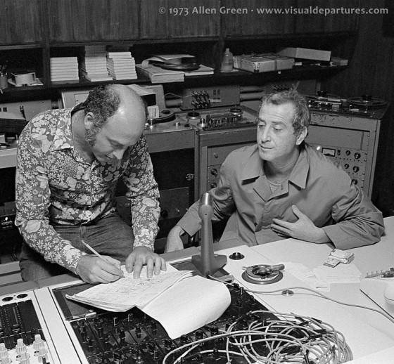Leiber & Stoller working at the mixing console