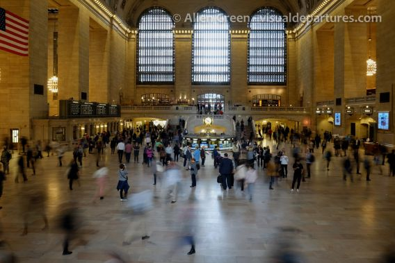 Long exposure of Grand Central Terminal, camera stabilized with