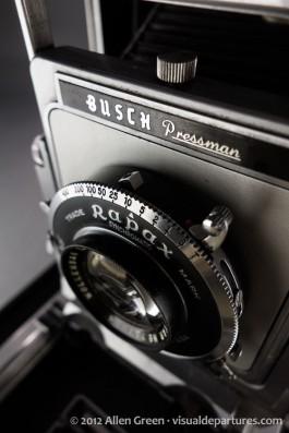 Busch Pressman Model D lens from above