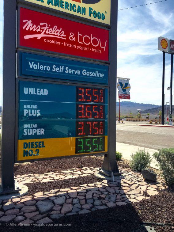Gas in the desert