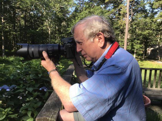 Allen shooting Nikon tele lens